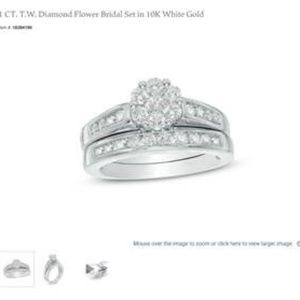 ZALES 1 CT. T.W. Diamond Flower Bridal Set in 10K